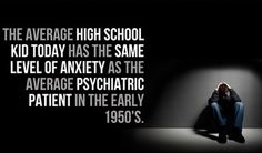 Anxiety levels in children are associated with low social connectedness and high environmental threat Two new meta-analytic studies involving thousands of children and college students show that anxiety has increased substantially since the 1950's. In fact, the studies find that anxiety has increased so much that typical schoolchildren during the 1980's reported more anxiety than child psychiatric patients did during the 1950's. The findings appear in the December issue of the American…