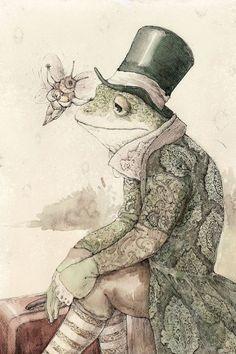 vintage frog illustration - Google Search