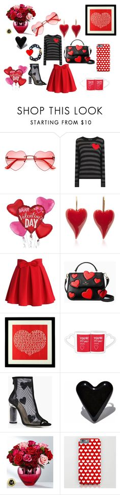 """""""Happy Valentines Day"""" by ipekzsuel on Polyvore featuring moda, Sonia by Sonia Rykiel, Chicwish, Kate Spade, Alexander Girard ve Boohoo"""