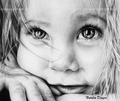 I started that piece of work a while ago...today decide to finish it... Love those eyes so much...whole face just shining from inside out...beautiful child...and great shot! Charcoal pencils, size ...