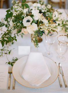 Classic meets elegant place setting: http://www.stylemepretty.com/2016/04/14/an-impossibly-chic-san-francisco-wedding/ | Photography: Josh Gruetzmacher - http://www.joshgruetzmacher.com/