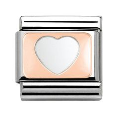 Nomination Rose Gold - Heart Charm 430101 08 | The Jewel Hut