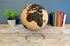 This cool cork globe is great for folks who love to travel.