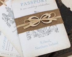 Passeport mariage invite par MartyMcColgan sur Etsy