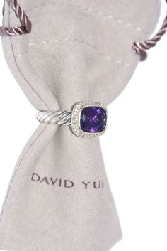 David Yurman Sterling Silver Amethyst and Diamonds Noblesse Ring Size 6.5. Get the lowest price on David Yurman Sterling Silver Amethyst and Diamonds Noblesse Ring Size 6.5 and other fabulous designer clothing and accessories! Shop Tradesy now
