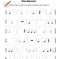 These worksheets can help teach music symbols and notation