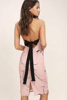 4897984308cc Keepsake Stolen Dance Blush Pink Print Midi Dress will have them begging to  be your dance