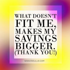 If it doesn't fit, don't buy it and feel better while you are at it! I mean, think about it, you just saved yourself money in the proces. Big Words, Plus Size Girls, Feel Better, Philippines, Plus Size Fashion, Money, Feelings, Fitness, Great Words