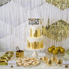 Metallic birthday cake