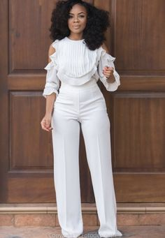 This Week In Style - Nudes, Colour Pop & Minimalists - The Curly Christian Girl All White Party Outfits, All White Outfit, Classy Outfits, Cool Outfits, Casual Outfits, Fashion Outfits, Womens Fashion, White Fashion, Work Fashion
