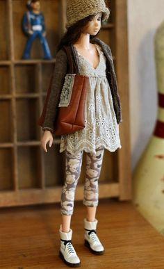 SugarBabyLove Linen dress set for Momoko par SugarbabyloveDoll
