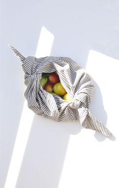 furoshiki kitchen towel wrap - anaise