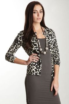 Leopard Print Cardigan - I got one of these last night I can't ...