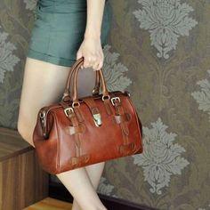 Image of Vintage Handmade Antique Cow Leather Women's Handbag / Purse / Shoulder Bag / Messenger Bag (m22)