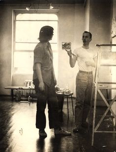 Grace Hartigan with Frank O'Hara photo