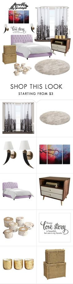 """""""Untitled #179"""" by aazraa ❤ liked on Polyvore featuring interior, interiors, interior design, home, home decor, interior decorating, Exclusive Home, WALL, Skyline and Illume"""