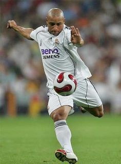 Roberto Carlos former left wingback at Real Madrid and the Brazilian national football team