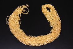 4metersBOX-016B  brass chain plated luster gold by 3yes on Etsy