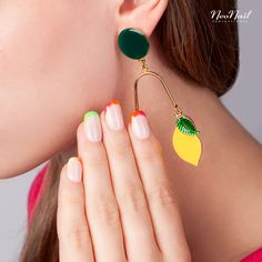 Neon colors by NeoNail New French Manicure, Shibori, Pedicure, Neon, Drop Earrings, Nails, Jewelry, Finger Nails, Pedicures