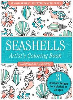 Seashells livro de colorir portátil