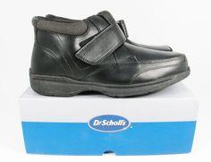 DR SCHOLL'S Men's Shoes Booty Leather Moc 1 Strap Black 478  NIB #DrScholls #AthleticCasual