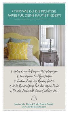 Eine Farbe für Wohnräume zu wählen sollte keine spontane Bauchentscheidung sein. Oft werden hier schlimme Fehler gemacht. Im Idealfall befolgst du ein paar einfache Regeln und findest so heraus welche Farben sehr gut zu dir und deinem Raum passen und welche du auf jeden Fall vermeiden solltest. Mehr dazu auf  www.my-homemate.com/blog.