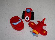 Ravelry: Race Car, plane (airplane aeroplane) and speed boat pattern by Amalia Samios