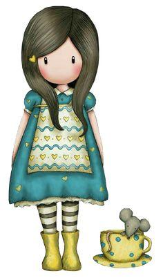 Risultati immagini per abecedario gorjuss png Little Doll, Little Girls, Cute Images, Cute Pictures, Digi Stamps, Whimsical Art, Cute Dolls, Cute Illustration, Illustrations