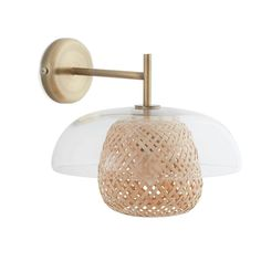 Madeline Glass & Bamboo Wall Lamp LA REDOUTE INTERIEURS The Madeline wall lamp uses the chic, natural combination of glass and bamboo to diffuse the light beautifully through the room. Its unique style will. Am Pm La Redoute, Bamboo Ceiling, Luminaire Applique, Bamboo Table, Wall Lights, Ceiling Lights, Luminaire Design, Messing, Wall Sconces