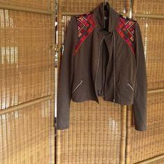 Light grey jacket Light grey jacket with patterned detailing Ecote Jackets & Coats