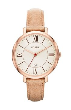 Fossil Jacqueline - Women Wrist Watch on YOOX. The best online selection of Wrist Watches Fossil. Fossil Jewelry, Jewelry Watches, Gold Jewelry, Vintage Jewellery, Leather Jewelry, Steel Jewelry, Fossil Jacqueline Watch, Couleur Or Rose, Brown Leather Watch