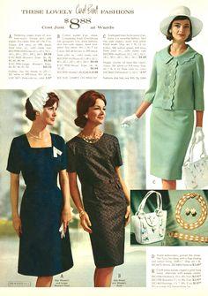 1960s Fashion Women, Over 50 Womens Fashion, Retro Fashion, Vintage Fashion, Retro Mode, Mode Vintage, Vintage 1950s Dresses, Vintage Outfits, Vintage Clothing