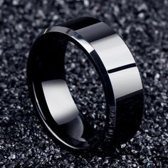 Buy Fashion Jewelry Titanium Steel Rings for Men Black Gold Plated Stainless Steel Ring at Wish - Shopping Made Fun Clean Gold Jewelry, Black Gold Jewelry, Black Rings, Sterling Silver Jewelry, Stylish Jewelry, Black Silver, Modern Jewelry, Tungsten Carbide Rings, Titanium Rings