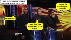 credit Jan @ dean.ambrose.net Wwe Funny, Funny Memes, The Shield Wwe, Dean Ambrose, Wwe Wrestlers, Roman Reigns, New Day, My Boys, Haha