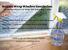 window insulation - good idea but will it keep the aliens out :O