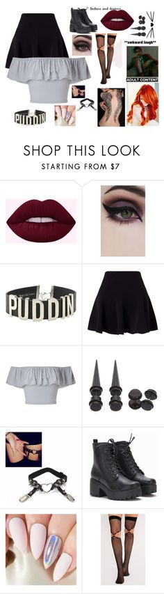 """Night's Bar Clothes!"" by maya-fischbach on Polyvore featuring Concrete Minerals, Miss Selfridge and Hot Topic"