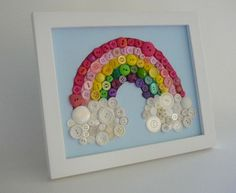 Rainbow Art From Buttons