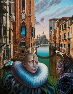 Roland Heyder Deutsch surrealistischen Malers, surreale Kunst, Surrealismus Deutschland, magischen Realismus, surreal Werke deutscher Kunst