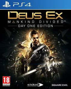 Square PS4 Deus Ex: Mankind Divided Day One Edition (Steelbook)…