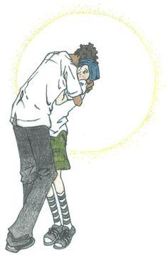 (Wybie and Coraline grown up) It's Hard For Tall Guys To Hug by ShinjiteFlorana