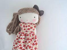 isabella, rag doll - cloth doll. $32.50, via Etsy.