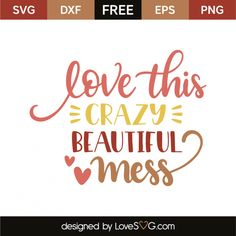 Love this crazy beautiful mess Sign Quotes, Wall Quotes, Wall Sayings, Jesus Quotes, Cricut Vinyl Cutter, Cricut Monogram, Silhouette Vinyl, Free Svg Cut Files, Beautiful Mess