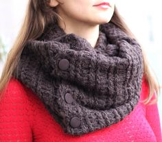 Hey, I found this really awesome Etsy listing at https://www.etsy.com/listing/171492229/knit-scarf-with-button-infinity-scarf