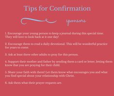 Confirmation gifts, tips for being a great confirmation sponsor, {and a giveaway!