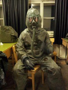 Hazmat Suit, Costume Ideas, Costumes, Latex, Gun, Films, Lion Sculpture, Masks, Army