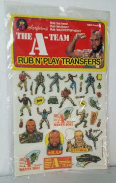 The A-Team Rub N'Play Transfers Colorforms Mr.T Sealed Vintage 1983 TV Show Toy #Colorforms
