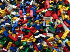 pieces 1kg bulk lot Lego genuine red bricks