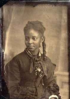 Beautiful Victorian black woman