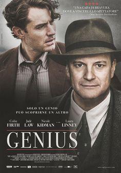 "Colin Firth, Jude Law and Nicole Kidman in ""Genius,"" 2016 Genius Movie 2016, Colin Firth, Jude Law, Streaming Hd, Nicole Kidman, Ernest Hemingway, Scott Fitzgerald, The Godfather, Fernando Pessoa"