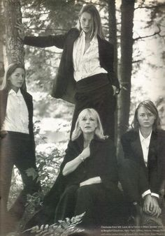 Lucie de la Falaise, Kate Moss, Marianne Faithfull & Stella McCartney by Bruce Weber for W